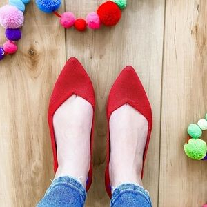 ROTHY'S The Pointe Flats in Chili Red